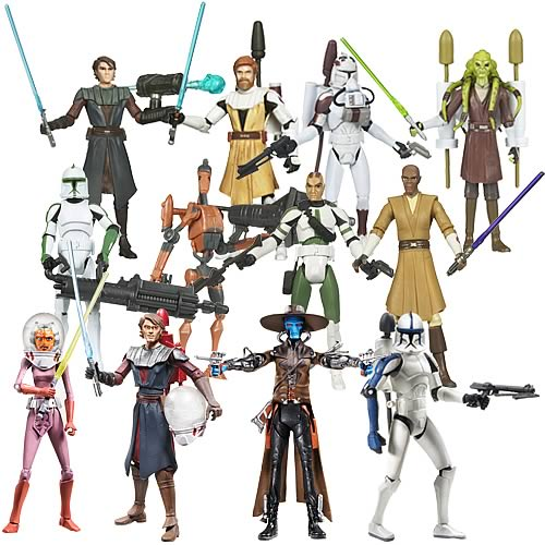 Star Wars The Clone Wars Toys : Star wars clone action figures wave case hasbro
