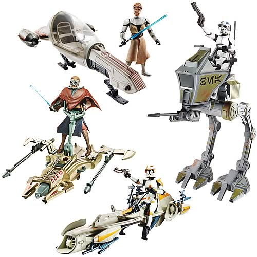 Star Wars Clone Wars Vehicle and Figure Packs Wave 5