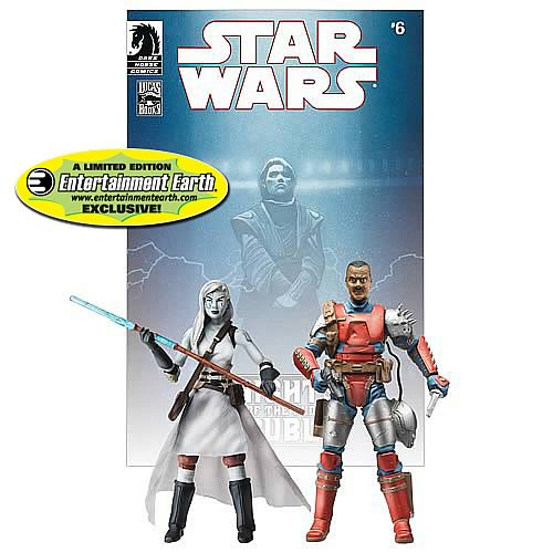 EE Exclusive Star Wars Figures Jarael and Rohlan Dyre