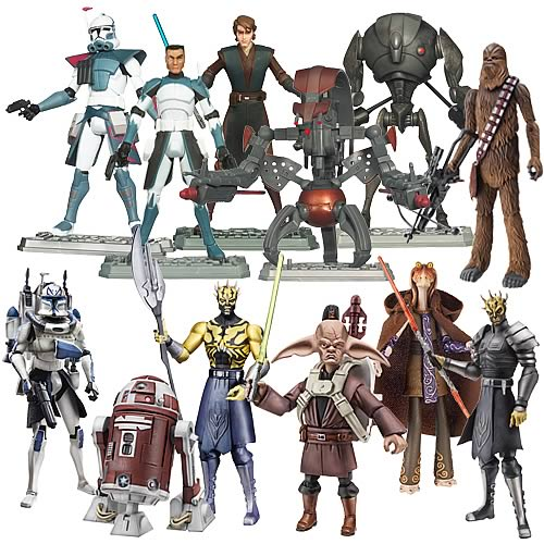 Star Wars The Clone Wars Toys : Star wars clone action figures wave hasbro