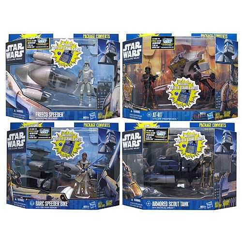Star Wars Clone Wars Mini-Vehicles with Figures Wave 4 Rev 1