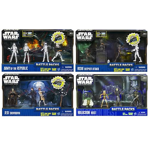 Star Wars Clone Wars Battle Packs Wave 4 Revision 1