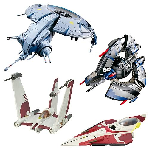star wars and clone wars vehicles wave 4 - hasbro - star wars