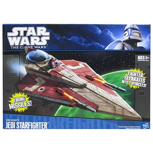 Star Wars Clone Wars Obi-Wan's Red Delta 2 Jedi Starfighter