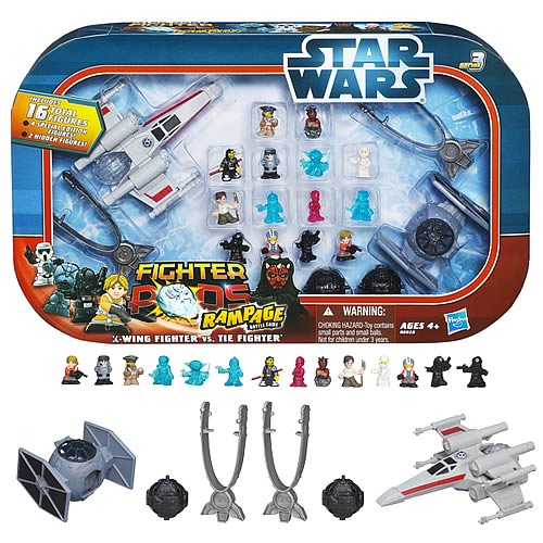 Star wars fighter pods rage x wing vs tie fighter set