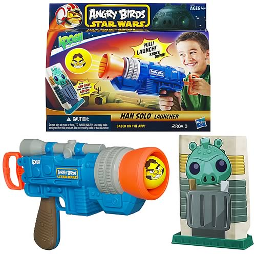 Star Wars Angry Birds Koosh Han Solo Blaster