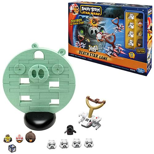Star Wars Angry Birds Jenga Death Star Game