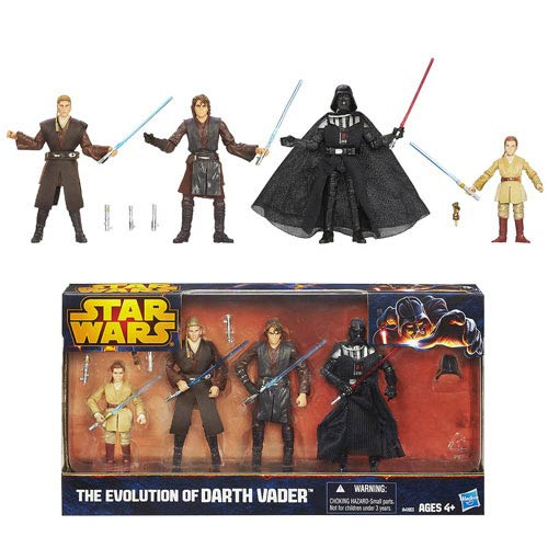 Star Wars Anakin Skywalker to Darth Vader Action Figure Set