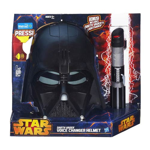 Star Wars Darth Vader Voice Changer Mask with Lightsaber