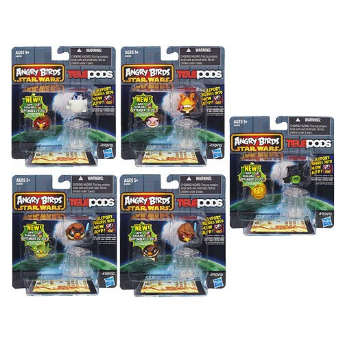 Star Wars Angry Birds Telepods Figures Wave 1 Case