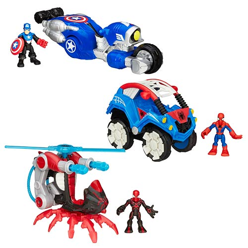 Marvel Super Hero Adventures Vehicle with Figure Wave 1