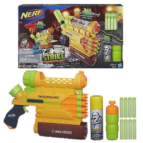 Nerf Zombie Strike Biosquad Zombie Abolisher ZR-800 Blaster