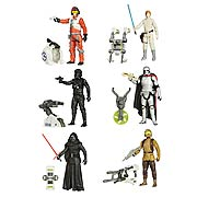 Star Wars Episode VII The Force Awakens Jungle and Space Action Figures Wave 1 Set