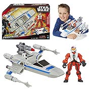Star Wars Hero Mashers X Wing Fighter Vehicle