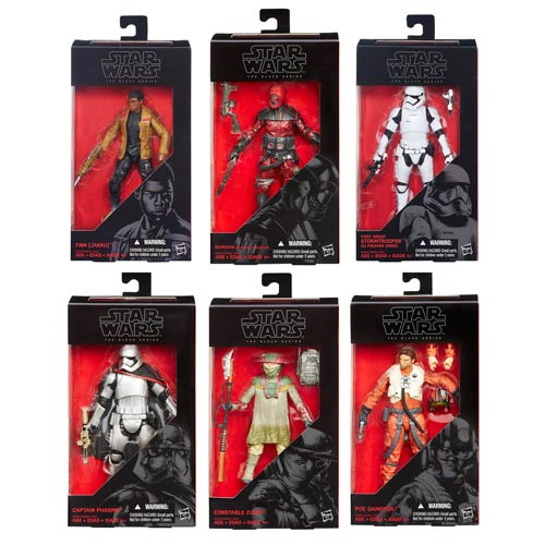 star wars tfa black series 6-inch action figures wave 2 case