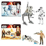 Star Wars Episode VII The Force Awakens Hero Series Vehicles Wave 1 Set