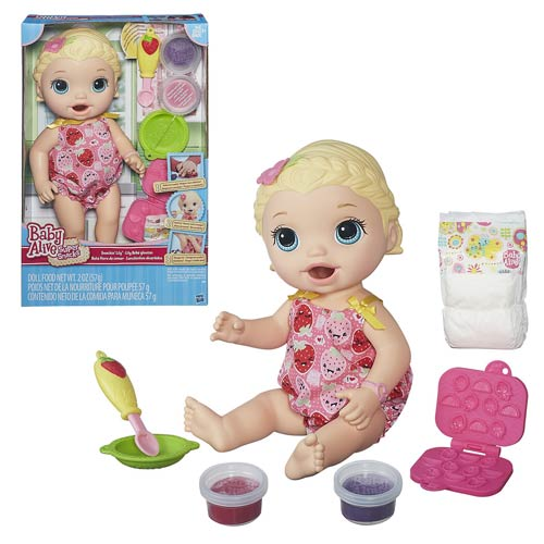 Baby Alive Snackin Lily Doll White And Blonde Hasbro