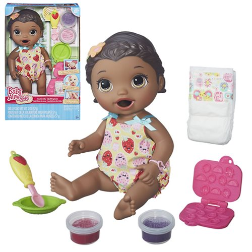 Baby Alive Snackin Lily Doll African American Hasbro