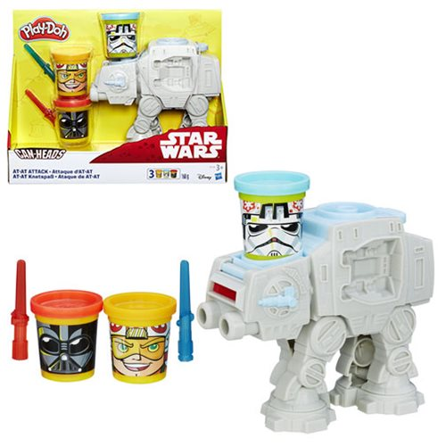 Star Wars Play-Doh AT-AT Attack Can Heads Set
