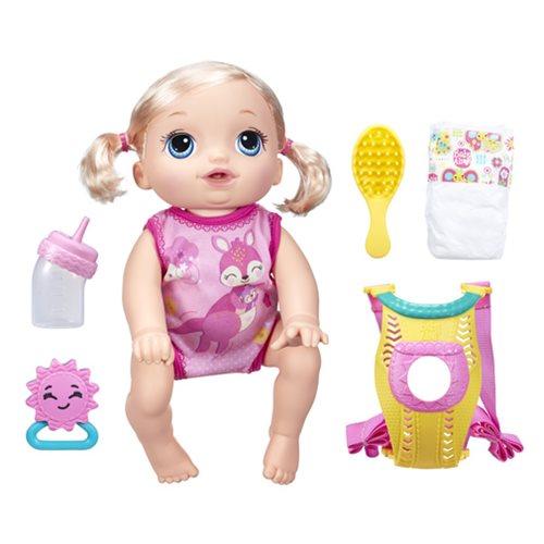 Baby Alive Baby Go Bye Bye Blonde Doll Hasbro Baby