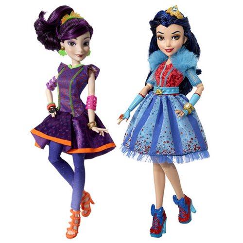 Disney Descendants Neon Lights Feature Dolls Wave 1 Set