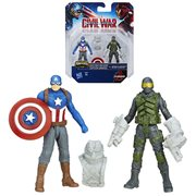 Captain America Cap and Mercenary 2 1/2-Inch Action Figures