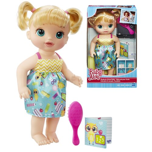 Baby Alive Ready For School Blonde Doll Hasbro Baby