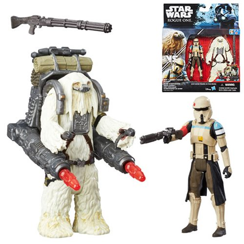 Star Wars Scarif Stormtrooper and Moroff Action Figures
