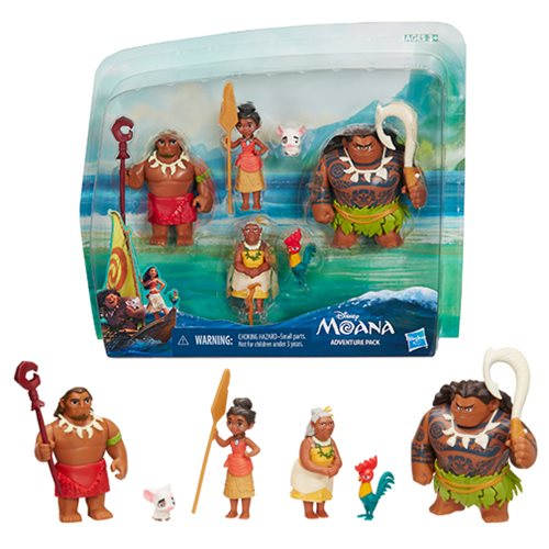 Moana Adventure Doll and Action Figure Action Pack ...
