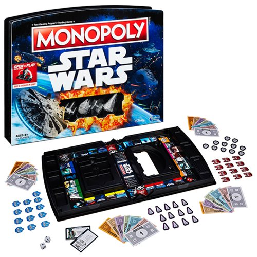 Star Wars Edition Monopoly Open and Play Game