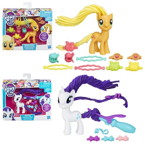 My Little Pony Twisty Twirly Hair Styles Figures Wave 1 Set