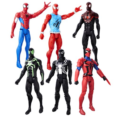 Spider-Man Titan Heroes Web Warrior Figures 2017 Wave 1 Case