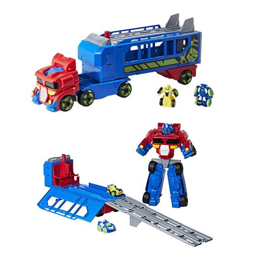Transformers Rescue Bots Optimus Prime Race Track Trailer