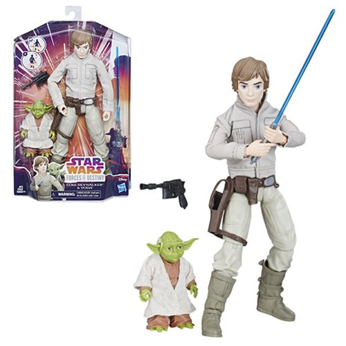 Star Wars Forces of Destiny Luke and Yoda Adventure Doll Set