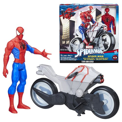 Spider-Man Action Figure with Spider Cycle Vehicle