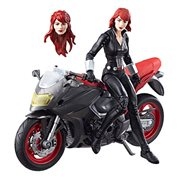 Marvel Legends Series 6-inch Black Widow with Motorcycle