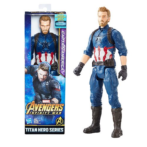 Marvel Infinity War Titan Hero Series Captain America Power FX Port Figure Gift