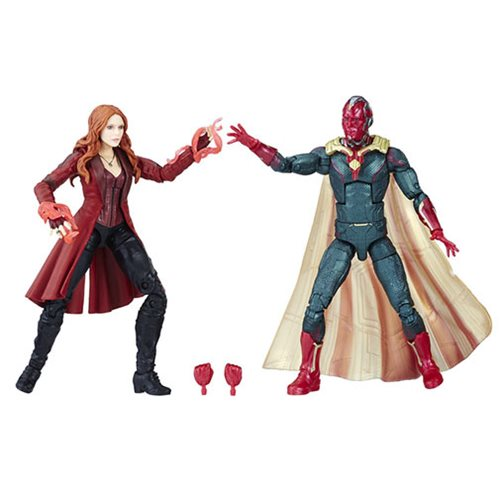 Marvel Legends Vision and Scarlet Witch Action Figures