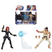 Marvel Gamerverse Black Widow vs. Ryu Action Figures