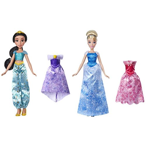 Disney Princess Dolls with Extra Fashions Wave 1 Set