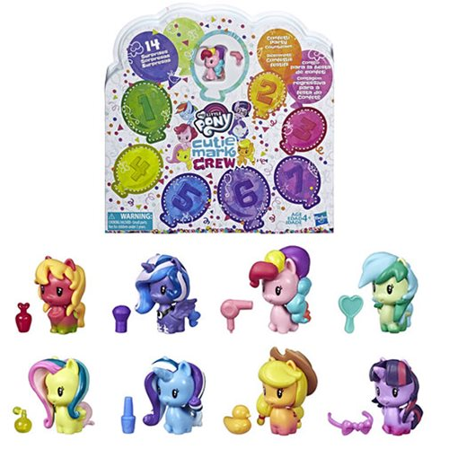 My Little Pony Toy Cutie Mark Crew Confetti Party Countdown Collectible 8-Pack