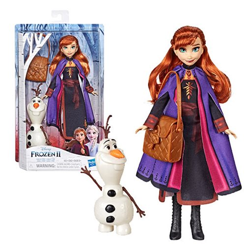 Frozen 2 Anna Doll with Buildable Olaf Figure