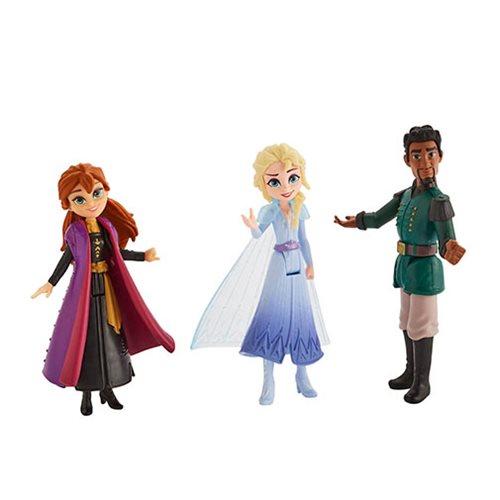 Frozen 2 Anna, Elsa, and Mattias Small Dolls 3-Pack