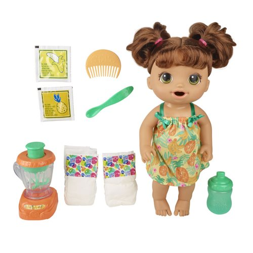 Baby Alive Magical Mixer Baby Doll - Brown Hair
