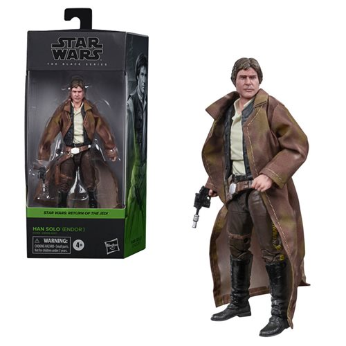 Star Wars The Black Series Han Solo Trenchcoat Action Figure