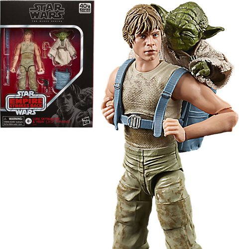 Star Wars Black Series Luke Skywalker & Yoda Action Figures