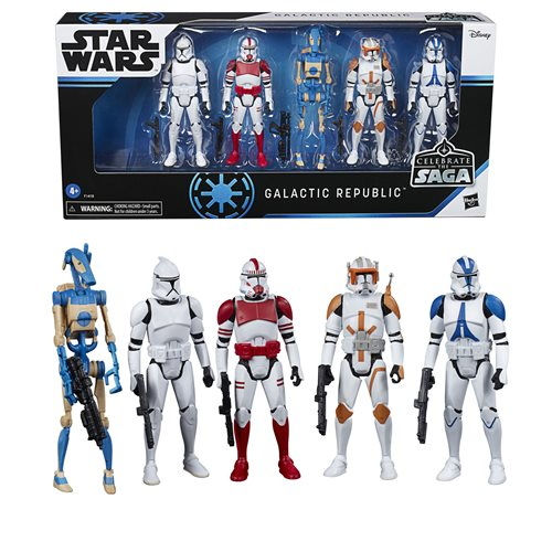 Star Wars Celebrate Saga Galactic Republic Action Figures