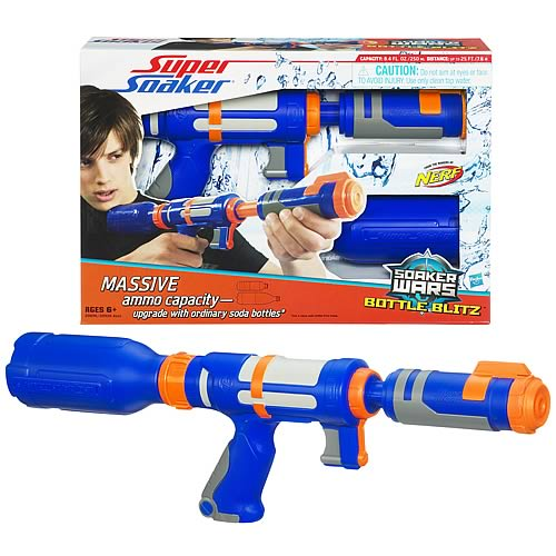 Super Soaker Soaker Wars Bottle Blitz Water Blaster