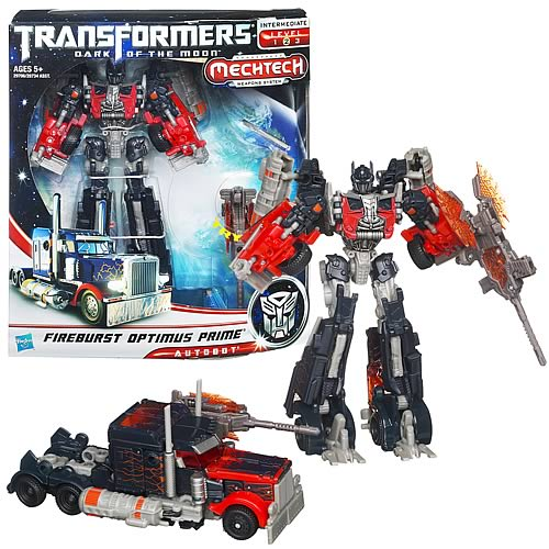 Transformers DOTM Voyager Fireburst Optimus Prime Figure