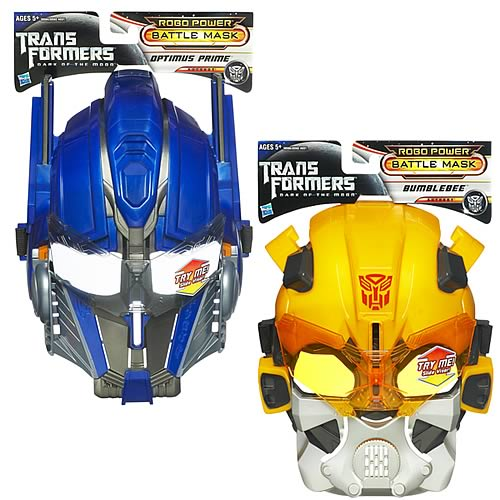 Transformers Dark of the Moon Battle Masks Set